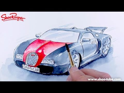 How to paint a Bugatti Veyron - spoken tutorial