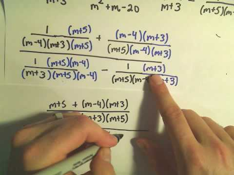 Simplifying Complex Fractions - Ex 3