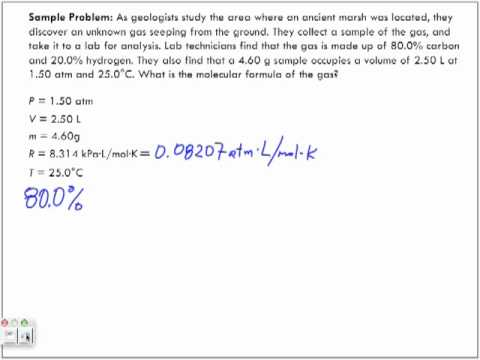 Application of the Ideal Gas Law Sample Problem 3
