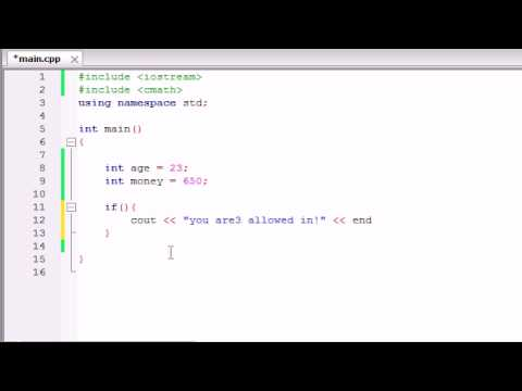 Buckys C++ Programming Tutorials - 26 - Logical Operators