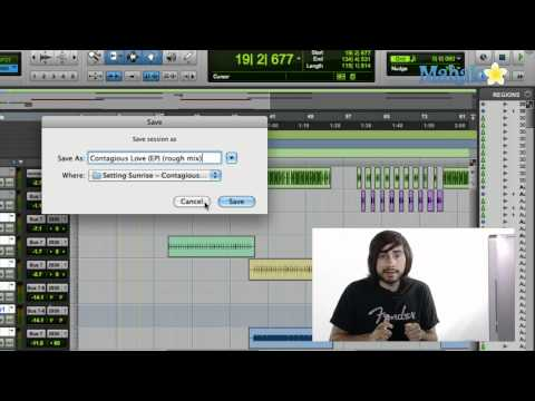Saving Sessions - Pro Tools
