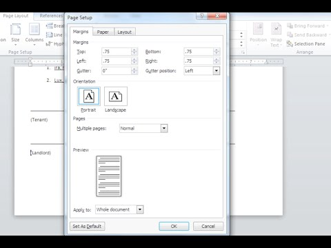 Word 2010: Page Layout