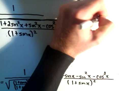 Inverse Trigonometric Functions - Derivatives - Example 3