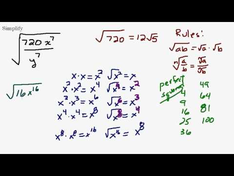 Simplify Fractional Radical With Variables