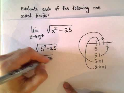 One Sided Limits, Example 3