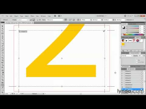 Illustrator: How to use the Artboard panel | lynda.com tutorial