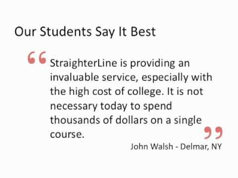 What You Can Expect From Online College Courses at StraighterLine