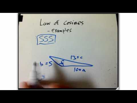 law of cosines examples