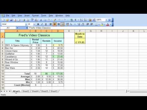 Microsoft Excel Tutorial for Beginners #31 - Worksheets Pt.1 - Multiple Worksheets