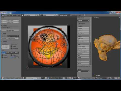 Blender Tutorial: Applying a Decal in Blender 2.5 Alpha 1