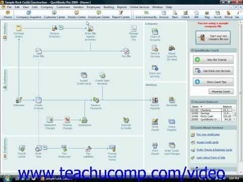 QuickBooks Tutorial Making Journal Entries Intuit Training Lesson 25.5