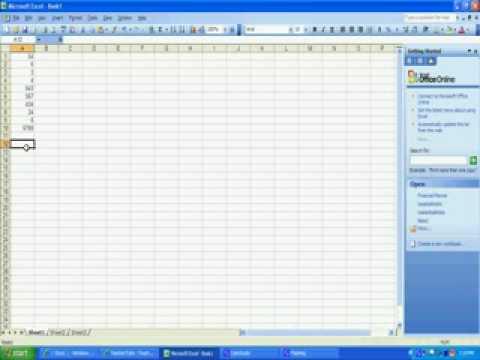 Sum in Excel