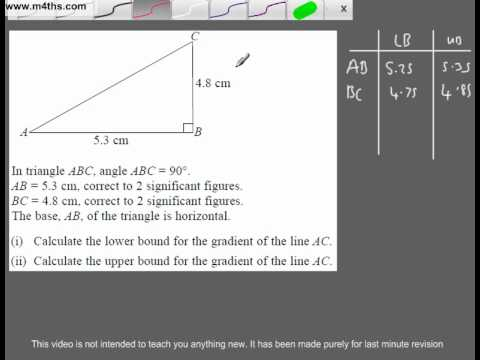 (Q280) A Star GCSE Revision Upper and Lower Bounds