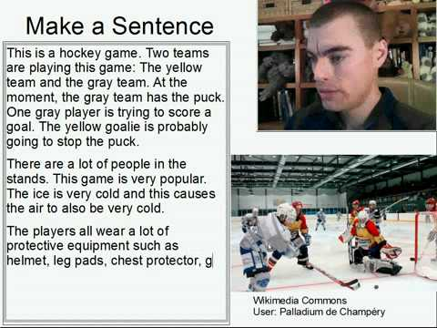 Learn English Make a Sentence and Pronunciation Lesson 88: Hockey