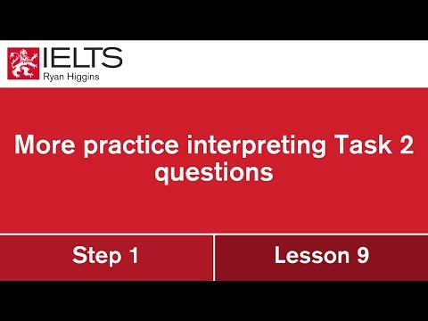 Interpreting IELTS questions (we look at 8 different IELTS questions and how to respond)