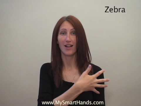 zebra - ASL sign for zebra