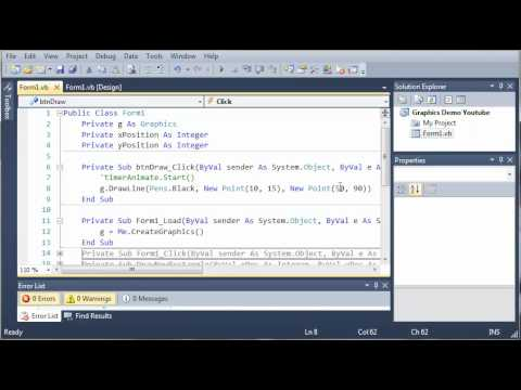 Visual Basic Tutorial - 167 - Graphics Points