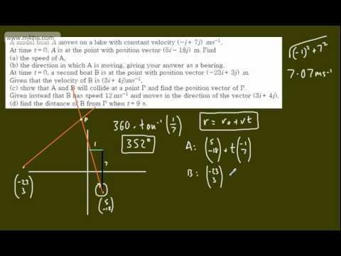 (3) M1 Exam Questions - Vectors - Boats