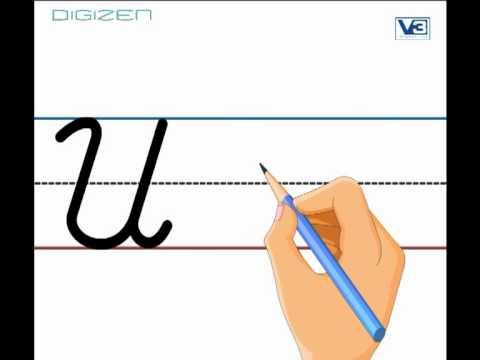 English: Cursive Letter - U