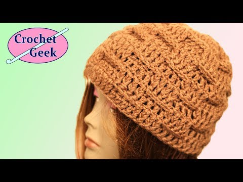 Crochet Geek - Basketweave Crochet Beanie Hat