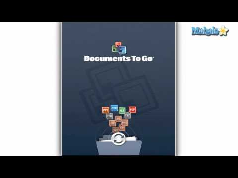 How to Email a Document in Documents To Go for the iPad