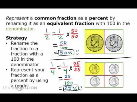 Represent a common fraction as a percent - 5.NF.4