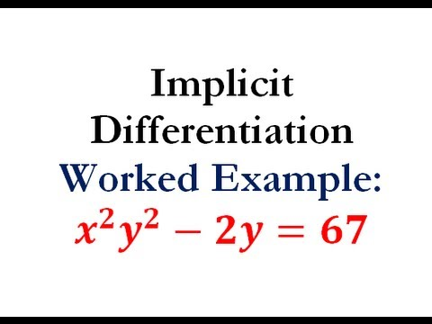 Derivatives - Implicit Differentiation Question #6