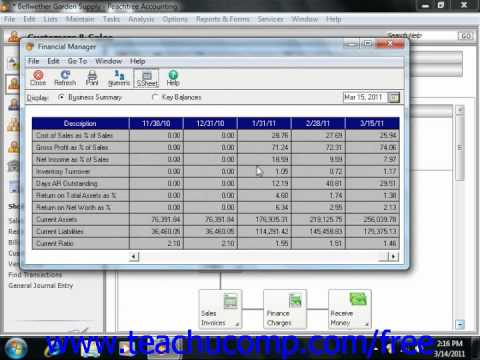 Peachtree Tutorial The Financial Manager Sage Training Lesson 14.4
