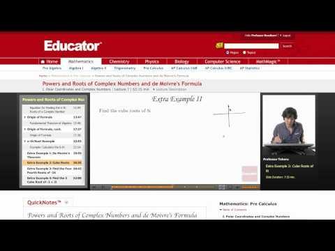 Pre-Calculus: de Moivre's Formula