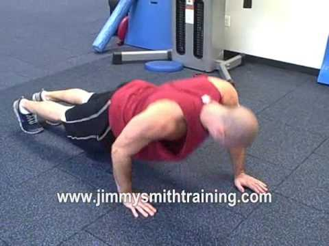 alternating arm push ups