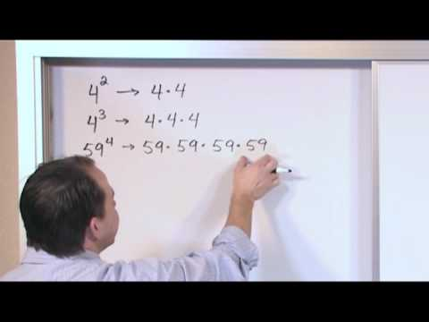Exponents - Sample Video Clip - Algebra 1 Tutor Vol 1