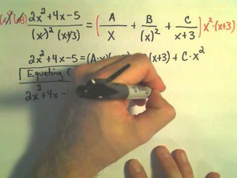 Partial Fraction Decomposition - Example 4