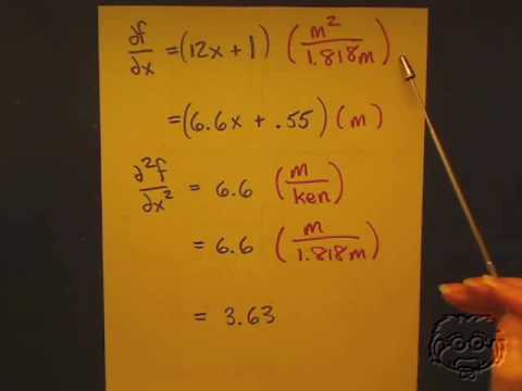 Guaranteach Math Tutorial: Changing Units Through Differentiation