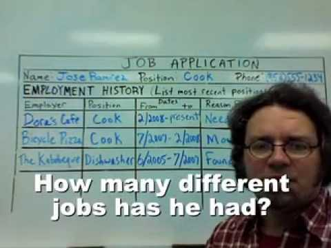 talking about job history