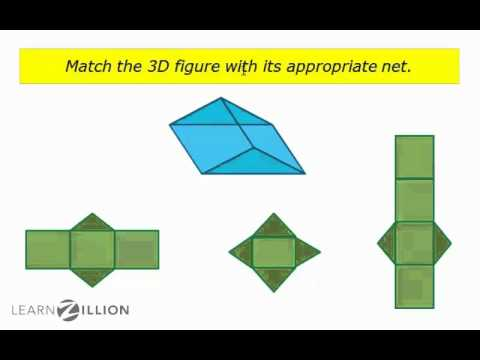 Represent 3 dimensional figures with nets - 6.G.4
