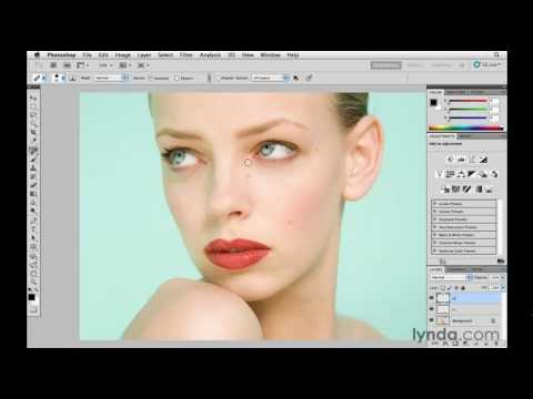 How to remove skin blemishes in Photoshop | lynda.com tutorial