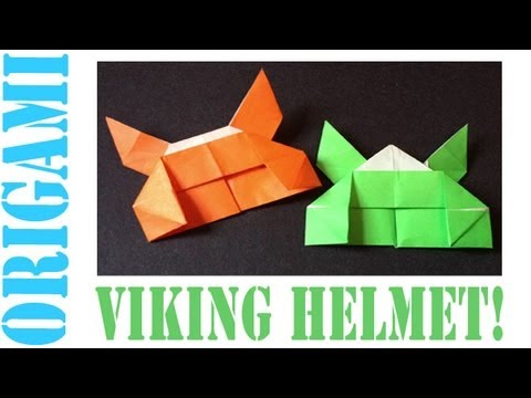 Origami Daily - 072: Viking Helmet (By Suhas) - TCGames [HD]