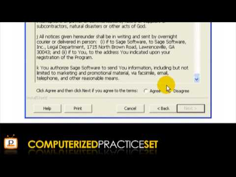 Peachtree accounting tutorial: Installation Instructions