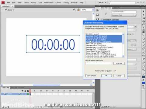 Flash CS4 Tips Vol 1, 10: Digital Clock