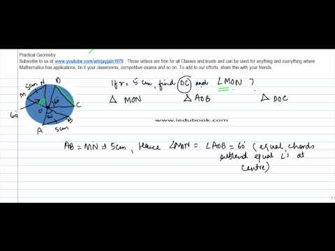 333. Concept of Angle subtended by Chord at centre Complex Problem 1 -  - CBSE & ICSE Maths Class 9