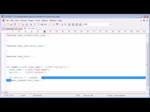 jQuery Tutorial - 184 - Users online sample application