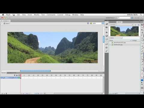 Beginners Web Design Tutorial | Inserting Images in Flash | InfiniteSkills Training