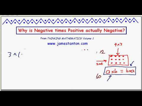 Why is Negative times Positive Negative? (TANTON Mathematics)