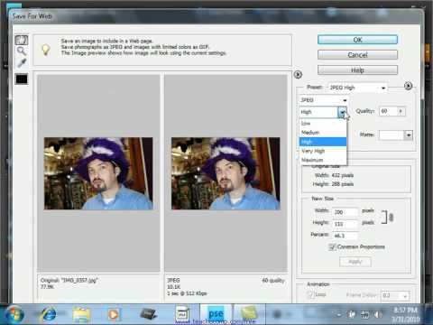 Photoshop Elements 9.0 Tutorial The Save for Web Dialog Box Adobe Training Lesson 15.2