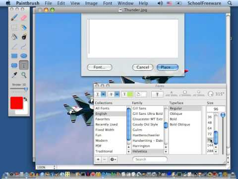 Paintbrush Tutorial - Free Software for the Mac - Download link
