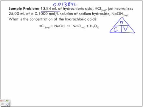 Acid-Base Reactions Sample Problem 1