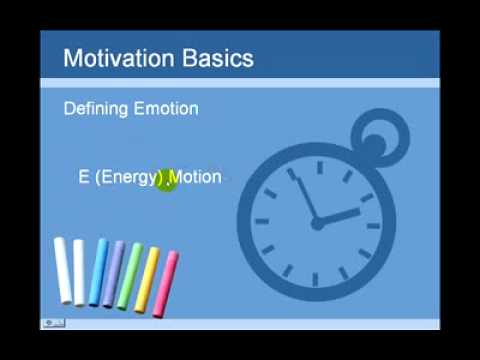 Student Motivation 1  Emotions Lift You Up OR Dra