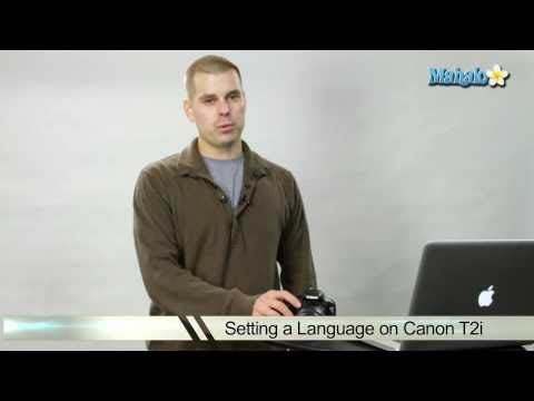 How to Set the Language on a Canon T2i DSLR