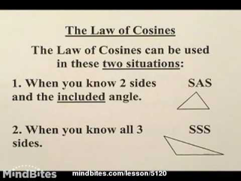 Trig: Applying Law of Cosines, Law of Sines