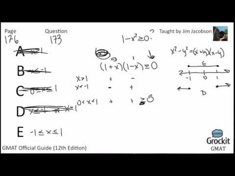 GMAT Quantitative Official Guide Sample Lesson 1 (3/4)